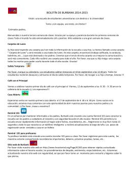 BOLETÍN DE BURBANK 2014-2015
