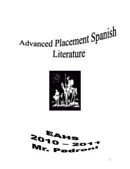 AP LITERATURA Terminología indispensable La poesía