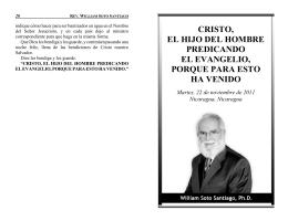 cristo, el hijo del hombre predicando el evangelio, porque para esto