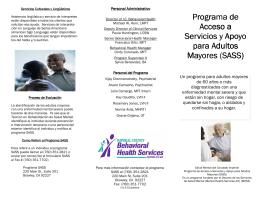 Programa de Acceso a Servicios y Apoyo para Adultos Mayores