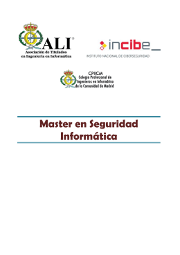 CPIICM INCIBE Folleto Master en seguridad informática