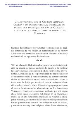 Una entrevista con el general Almazán. Cederá a sus detractores