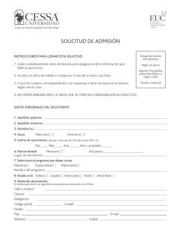 Formato Inscripcion 1 - Centro de Estudios Superiores de San Ángel