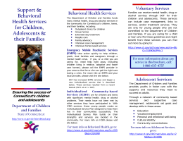 Support & Behavioral Health Services for Children, Adolescents