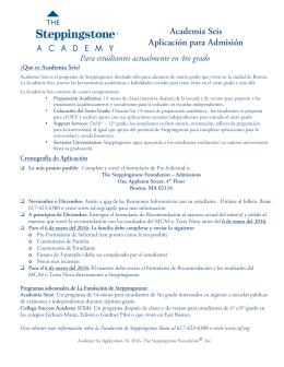 Academia Seis Aplicación para Admisión