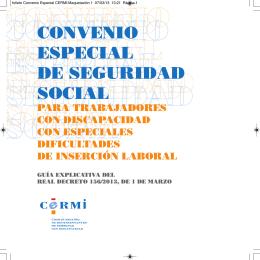 convenio especial de seguridad social para trabajadores con