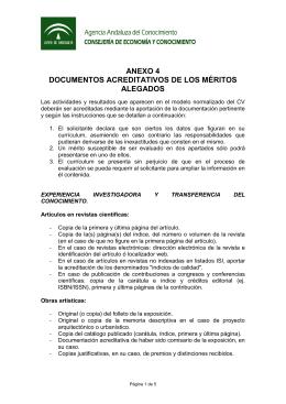 anexo 4 documentos acreditativos de los méritos alegados