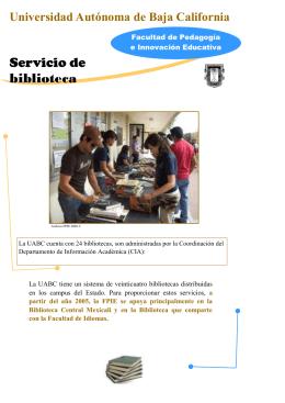 Servicio de biblioteca - Facultad de Pedagogía e Innovación