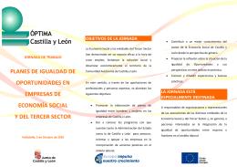 Folleto Jornada Planes de Igualdad en Empresas de Economía