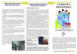 CAMPAÑA MISIONERA - Colegio Inmaculada Niña