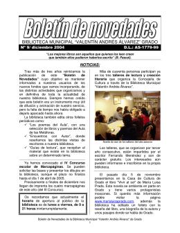 "biblioteca municipal ""valentín andrés álvarez"" grado"