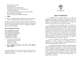 Folleto explicativo sobre el Adviento