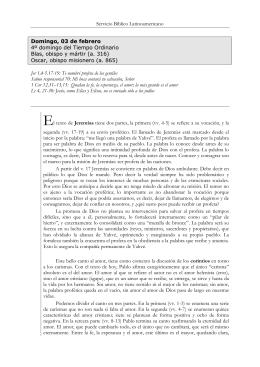 Servicio Bíblico Latinoamericano Domingo, 03 de