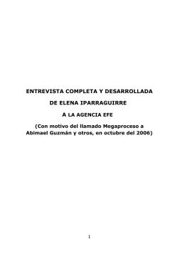 entrevista completa y desarrollada de elena iparraguirre
