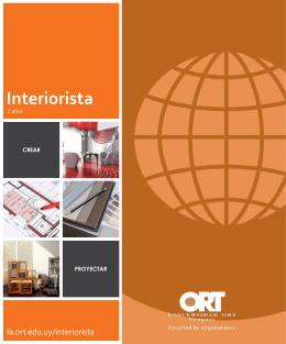 Interiorista - Inicio - Universidad ORT Uruguay