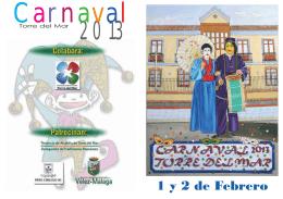 folleto carnaval 2013