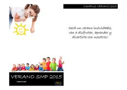 folleto de los Campamentos SMP 2015