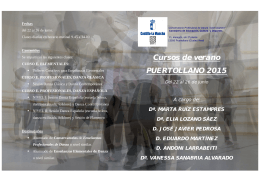 Folleto cursos 2015web - CD José Granero, Puertollano