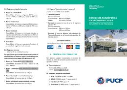 Folleto informativo sobre los Derechos Académicos 2015-0