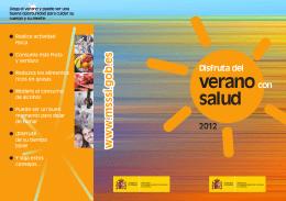 Disfruta del verano con salud 2012
