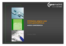 Utilidades página web www.gesmadrid.es
