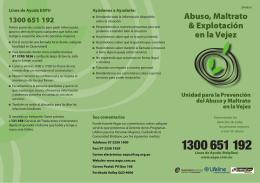 Abuso, Maltrato & Explotación en la Vejez