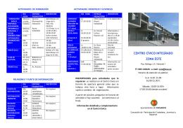 programa de actividades zona este curso 2015