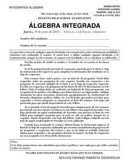 ÁLGEBRA INTEGRADA