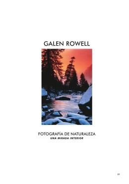 Galen Rowell. Fotografía de naturaleza (Ediciones Desnivel)