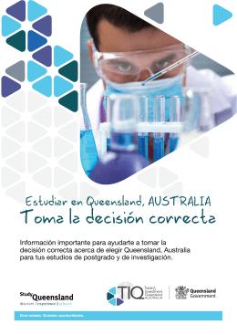 Toma la decisión correcta - Study in Queensland, Australia.