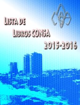 Lista de Libros 2015-2016 - Colegio Nuestra Señora de la Altagracia