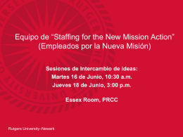 "Equipo de ""Staffing for the New Mission Action - Rutgers"