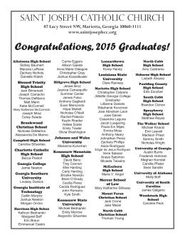Congratulations, 2015 Graduates!