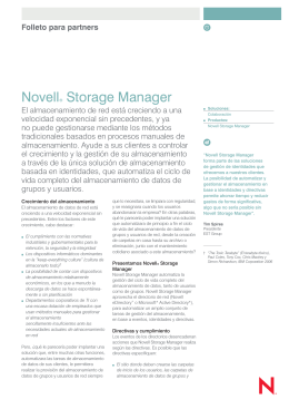 Novell® Storage Manager
