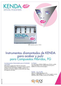 Instrumentos diamantados de KENDA para acabar y pulir para