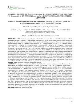 CONTROL QUÍMICO DE Echinochloa colona (L.) LINK