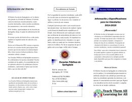 Información y Especificaciones para los Voluntarios 2014