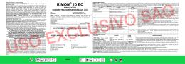 Etiqueta Rimon 10 EC - Servicio Agrícola y Ganadero