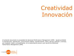 Técnicas de creatividad e innovación