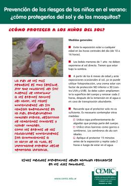 Prevención de los riesgos de los niños en el verano: ¿cómo