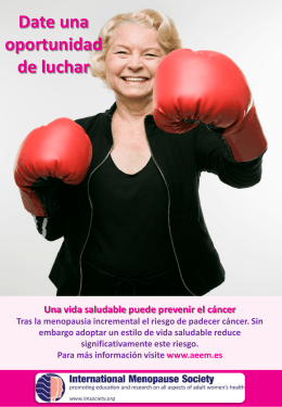Date una oportunidad de luchar - International Menopause Society