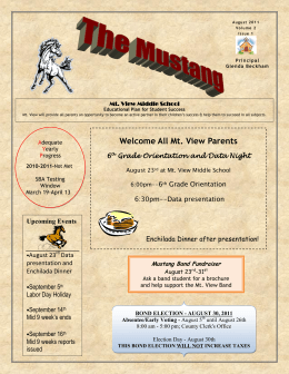 Welcome All Mt. View Parents
