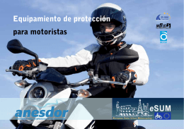 Equipamiento de protección para motoristas