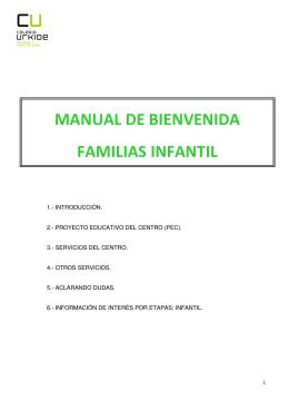 MANUAL DE BIENVENIDA FAMILIAS INFANTIL
