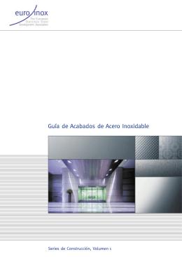 PDF: Guía de Acabados de Acero Inoxidable