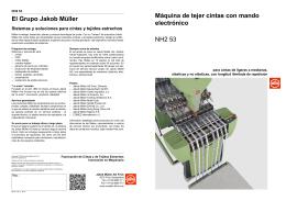 Máquina de tejer cintas con mando electrónico