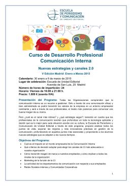 Curso de Desarrollo Profesional Comunicación Interna