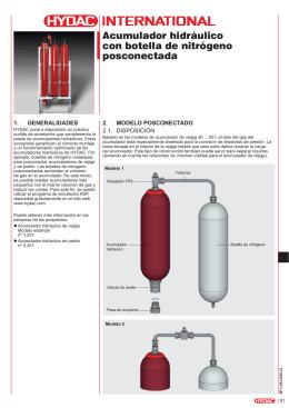 Acumulador hidráulico con botella de nitrógeno