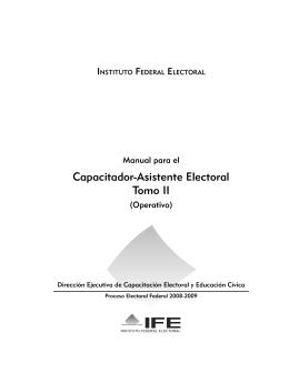 Capacitador-Asistente Electoral Tomo II