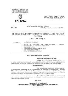 OD 106-02 - Ministerio de Seguridad